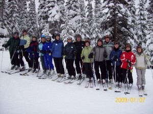 Happy group at Sun Peaks